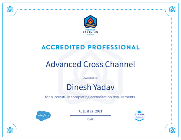 Advanced Cross Channel Accredited Professional